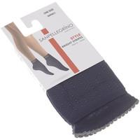 Sous-vêtements Femme Collants & bas Sanpellegrino Bas socquettes - Socquette 60 D Bright Stripes Bleu marine