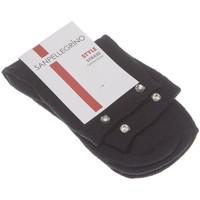 Accessoires textile Femme Chaussettes Sanpellegrino Chaussettes Basses - Coton - Socquette Strass Noir