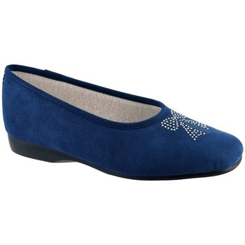 Chaussures Femme Chaussons Exquise Eval Bleu nuit