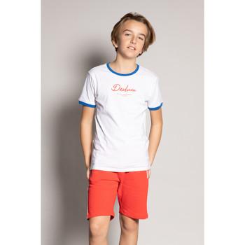 Vêtements Garçon T-shirts manches courtes Deeluxe T-Shirt HYLTER White