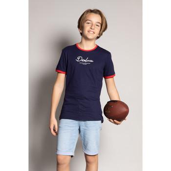Vêtements Garçon T-shirts manches courtes Deeluxe T-Shirt HYLTER Navy