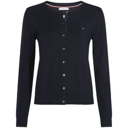 Vêtements Femme Gilets / Cardigans Tommy Hilfiger Gilet Boutonné Heritage Bleu Marine