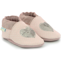Chaussures Fille Chaussons bébés Robeez Shining Heart ROSE CLAIR