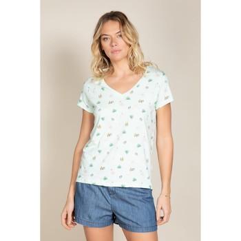 Vêtements Femme T-shirts manches courtes Deeluxe T-Shirt ELINA Light Mint