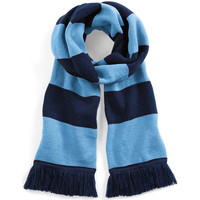 Accessoires textile Femme Echarpes / Etoles / Foulards Beechfield Varsity Bleu marine/Bleu ciel