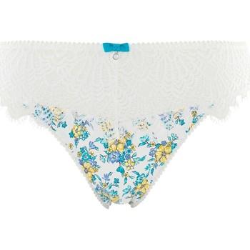 Sous-vêtements Femme Culottes & slips Pommpoire Culotte ivoire/turquoise Sweet Heart Bleu
