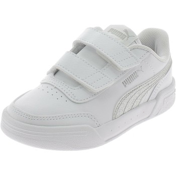 Chaussures Fille Baskets basses Puma CARACAL GLITTER V PS BIANCHE blanc