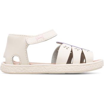 Chaussures Fille Sandales et Nu-pieds Camper Sandales cuir Miko beige