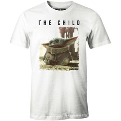 Vêtements Homme T-shirts manches courtes Cotton Division T-shirt Star Wars The Mandalorian - Baby Yoda The Child Blanc