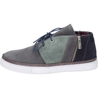 Chaussures Homme Boots Guardiani sneakers daim gris
