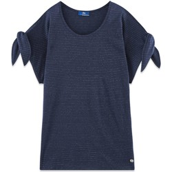 Vêtements Femme T-shirts manches courtes TBS TICTOTEE Bleu marine