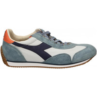 Chaussures Homme Baskets basses Diadora EQUIPE H CANVAS STONE WASH 60125-blu-mare-bering