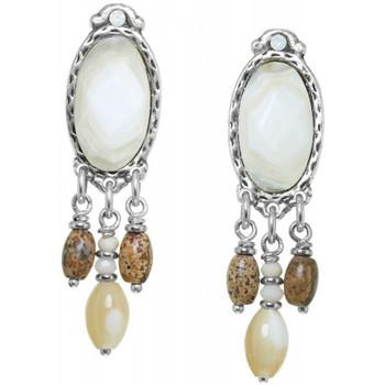 Montres & Bijoux Femme Boucles d'oreilles Franck Herval Boucles d'oreilles  collection 'Opaline' 12--61704 Blanc
