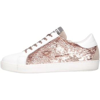 Chaussures Fille Baskets basses Meline C-WEB-01352 Blanc / Rose