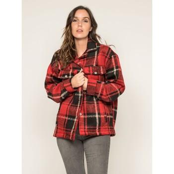 Vêtements Vestes / Blazers Dona X Lisa Manteau court carreaux URANI Rouge