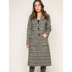 Vêtements Vestes / Blazers Dona X Lisa Manteau pardessus jacquard UTAWA Noir