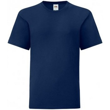 Vêtements Garçon T-shirts manches courtes Fruit Of The Loom Iconic Bleu marine