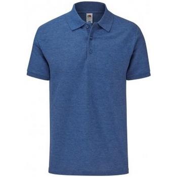 Vêtements Homme Polos manches courtes Fruit Of The Loom SS221 Bleu roi chiné
