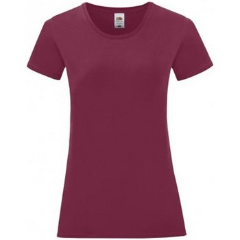 Vêtements Femme T-shirts manches courtes Fruit Of The Loom Iconic Bordeaux