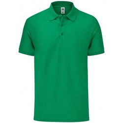 Vêtements Homme Polos manches courtes Fruit Of The Loom SS221 Vert chiné