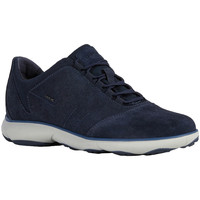 Chaussures Homme Baskets basses Geox SNEAKER U NEBULA LACE UP SUEDE Navy