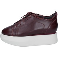 Chaussures Femme Derbies Guardiani sneakers cuir bordeaux