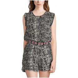 Vêtements Femme Combinaisons / Salopettes Kaporal Combishort Femme Mak Off White Multicolor