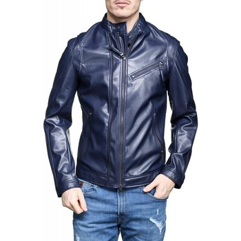 Vêtements Homme Vestes en cuir / synthétiques Guess Blouson homme Biker Strecht navy M82L10