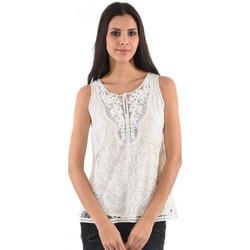Vêtements Femme Tops / Blouses Kaporal Top Dentelles Sans Manche Femme Flam Blanc Blanc