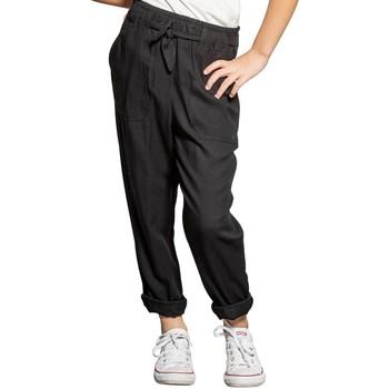 Vêtements Fille Pantalons fluides / Sarouels Deeluxe Pantalon ELIDA Black
