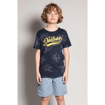 Vêtements Garçon T-shirts manches courtes Deeluxe T-Shirt STUNNING Navy