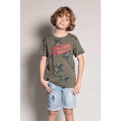Vêtements Garçon T-shirts manches courtes Deeluxe T-Shirt STUNNING Khaki