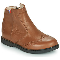 Chaussures Fille Boots GBB NOUGATINE Marron