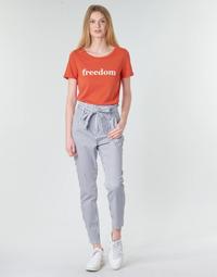 Vêtements Femme Chinos / Carrots Vero Moda VMEVA Blanc / Gris