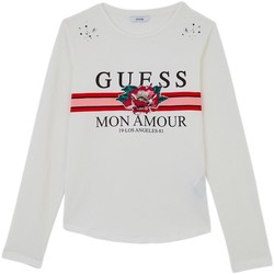 Vêtements Enfant T-shirts manches longues Guess T-Shirt Fille Manches Longues J84I09 Blanc (rft) 1