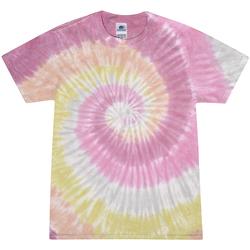 Vêtements Femme T-shirts manches courtes Colortone Rainbow Rose