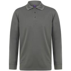 Vêtements Homme Polos manches longues Henbury HB478 Gris foncé