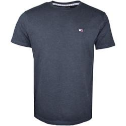 Vêtements Homme T-shirts manches courtes Tommy Jeans T-shirt col rond  noir basique pour homme Bleu