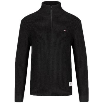 Vêtements Homme Pulls Tommy Jeans Pull col montant zippé  noir en maille pour homme Gris