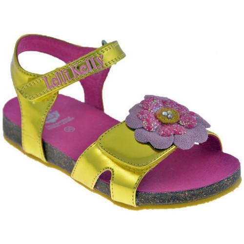 Chaussures Fille Sandales et Nu-pieds Lelli Kelly 4522 Zoo Sandales Doré