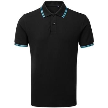 Vêtements Homme Polos manches courtes Asquith & Fox Classics Noir/turquoise