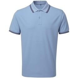 Vêtements Homme Polos manches courtes Asquith & Fox AQ011 Bleu clair/bleu marine