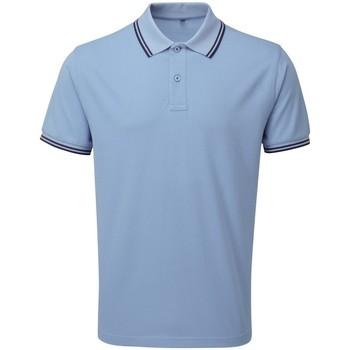 Vêtements Homme Polos manches courtes Asquith & Fox Classics Bleu clair/bleu marine