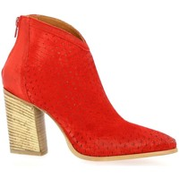 Chaussures Femme Bottines Spazio 08 Boots cuir velours rouge