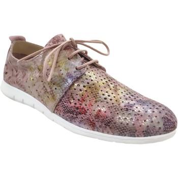 Chaussures Femme Derbies Folies Zambo rose métallisé cuir