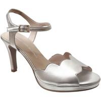 Chaussures Femme Sandales et Nu-pieds Brenda Zaro F3229 Platine métallisé