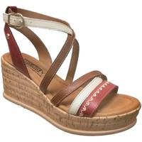 Chaussures Femme Sandales et Nu-pieds Pikolinos W2f-1867c1 miranda Rouge/marron cuir