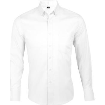 Vêtements Homme Chemises manches longues Sols BUSINESS MEN Blanco