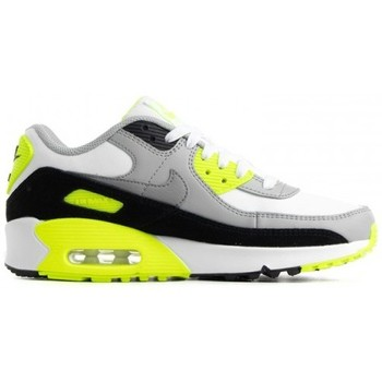 Chaussures Enfant Running / trail Nike AIR MAX 90 LEATHER (GS) / BLANC Blanc