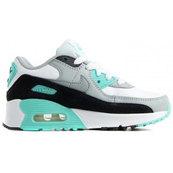 Chaussures Enfant Running / trail Nike AIR MAX 90 LEATHER (PS) / BLANC Blanc